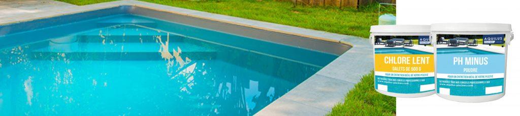 Traitement de l'eau de la piscine avec Aquilus
