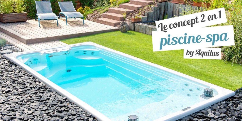 La M'Water, le concept mi-piscine, mi-spa créé par Aquilus. un bassin de 10m2