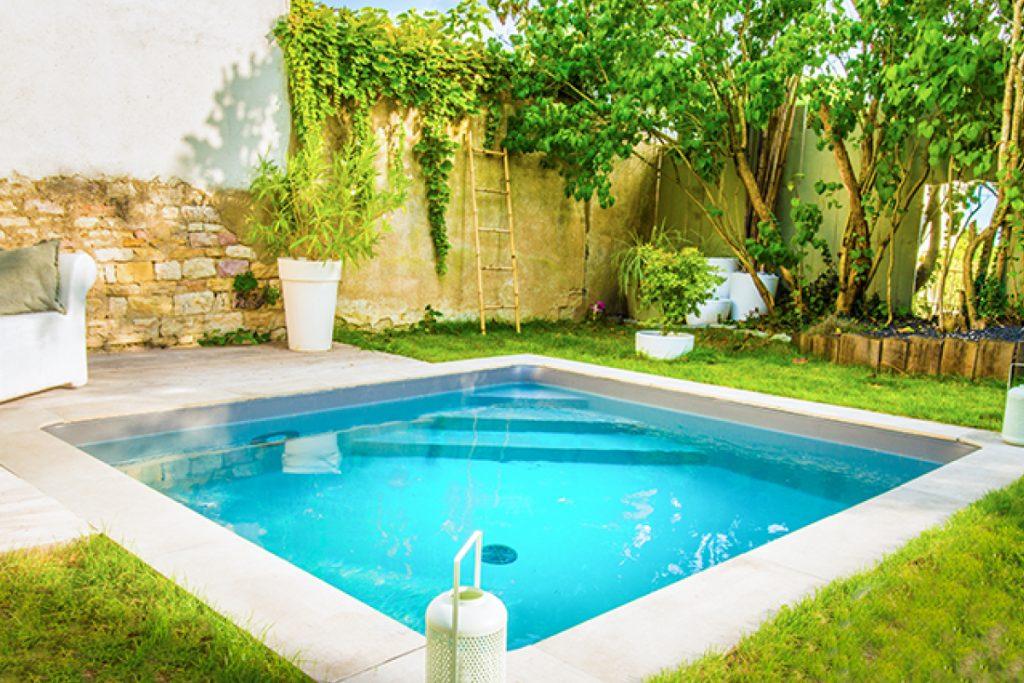Mini piscine carrée - Aquilus Orange
