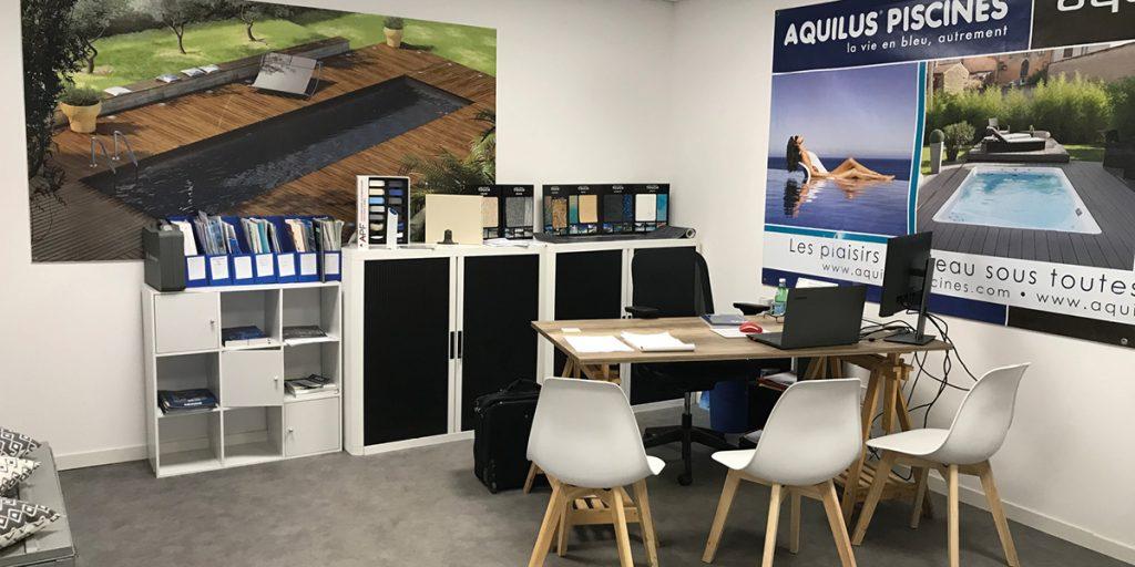 Bureau d'études du nouveau magasin Aquilus Piscines et Spas La Rochelle à Perigny