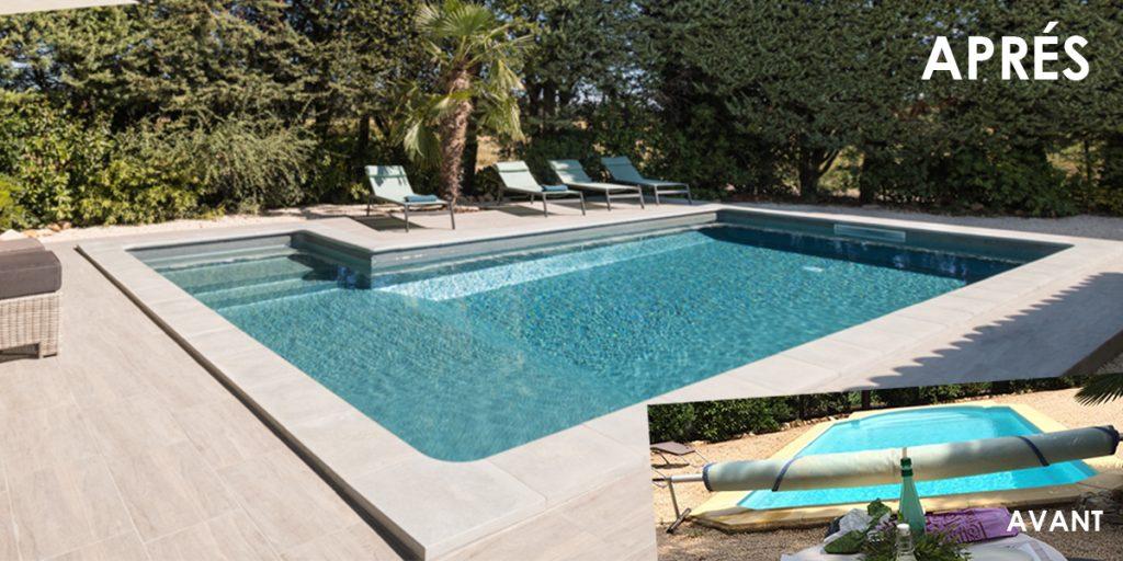 rénovation totale piscine avant-après